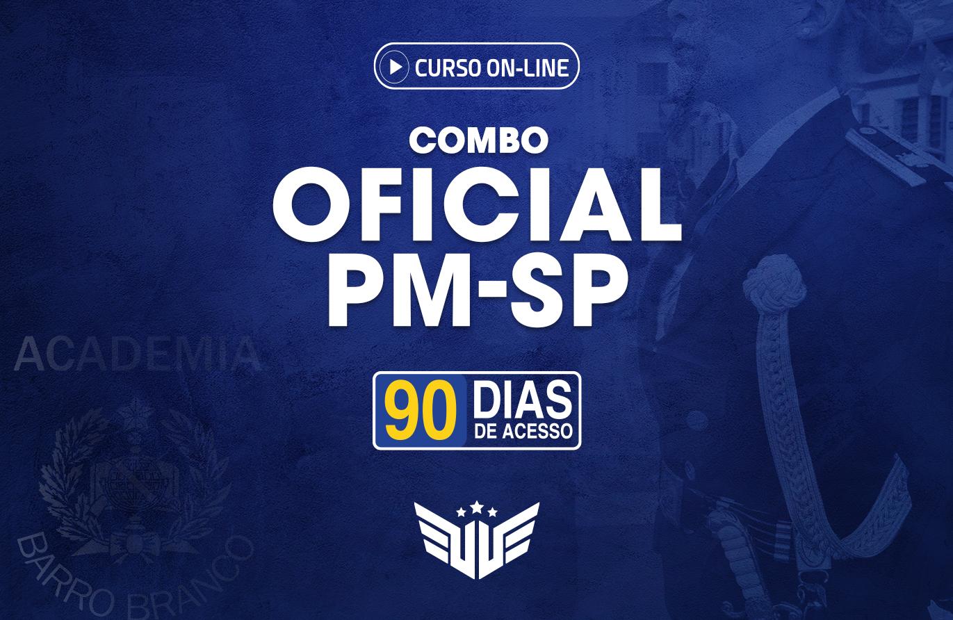 Combo Oficial PM-SP | Curso Preparatório - 90 dias